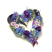 Loose Open Heart  Purple and Lilac