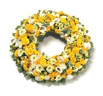 Wreath Leaf Edging Yellow and White
