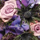 Wreath Leaf Edging  Purple and Lilac